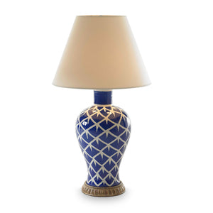 Blue Feather Lamp