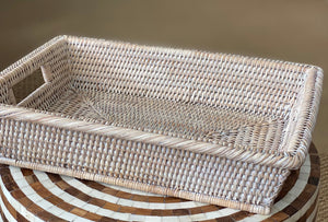 Rattan Towel Tray