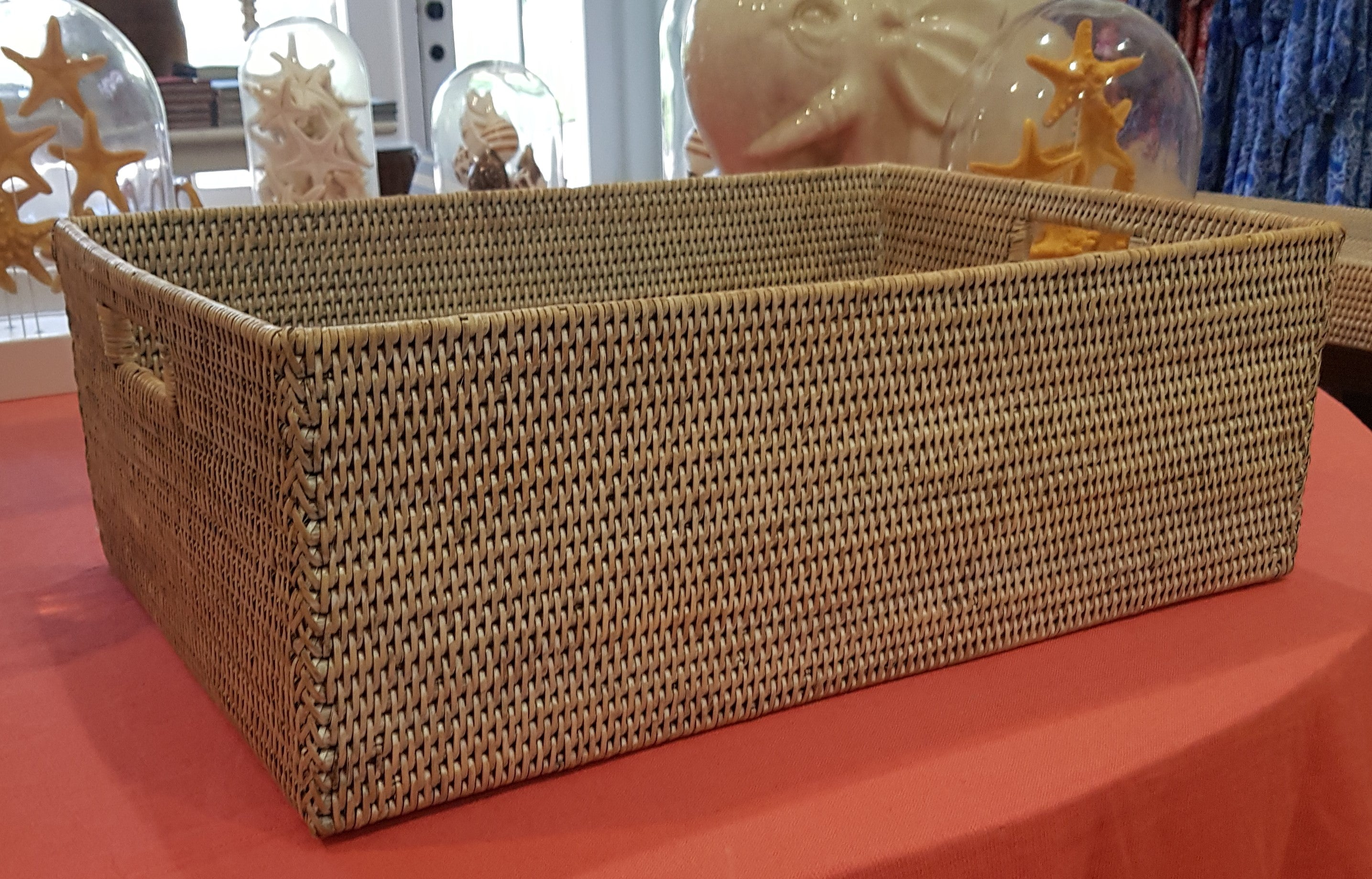 Deep Rattan Basket