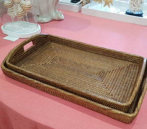 Rattan Morning Trays