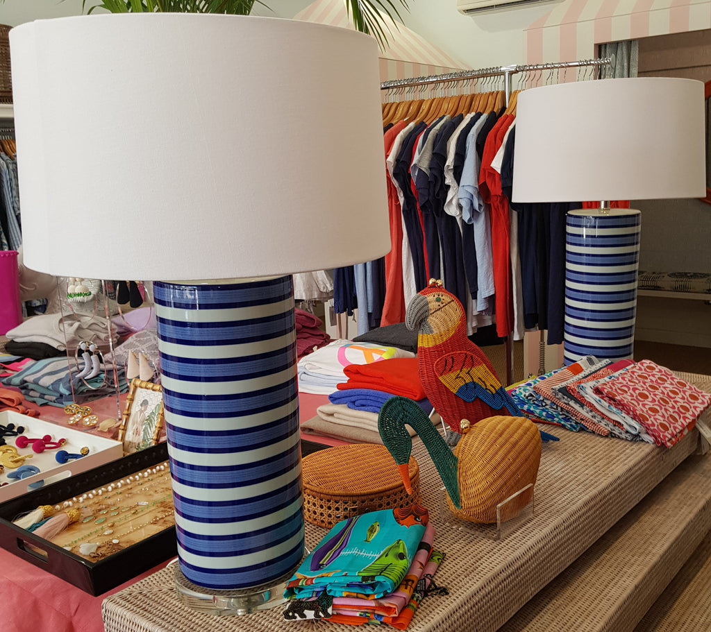 Blue Stripe Lamp