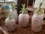 Silver Ceramic Pineapples