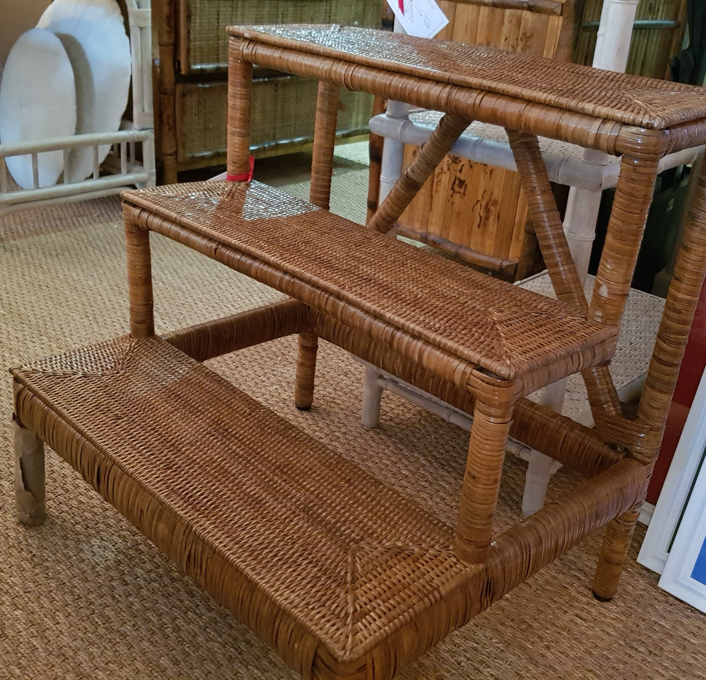 Rattan Step Ladder