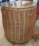 Drum Rattan Side Table