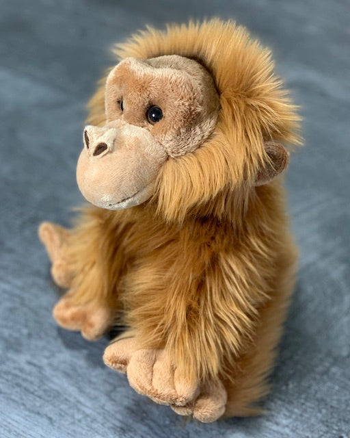 Realistic baby orangutan, monkey, weighted stuffed animal for anxiety, ADHD, PTSD, autism, Alzheimer's, Sensory Soothers.