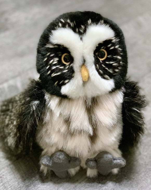 Realistic Great Gray owl weighted stuffed animal for anxiety, autism, ADHD, PTSD, Alzheimer's, Sensory Soothers.