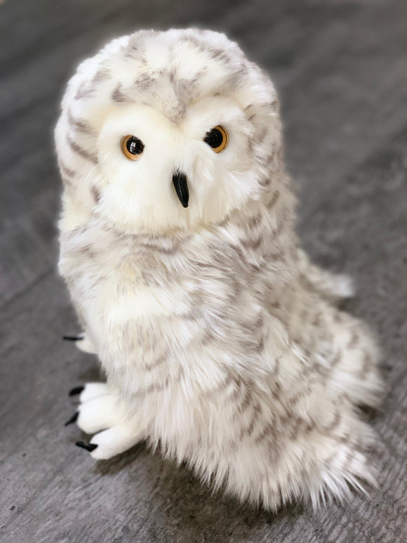 Fluffy White owl, Hedwig, weighted stuffed animal for autism ADHD PTSD sensory soothers