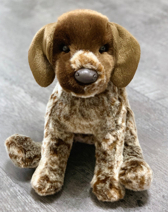 brown and white german pointer dog weighted stuffed animal for ASD ADHD PTSD sensory soothers