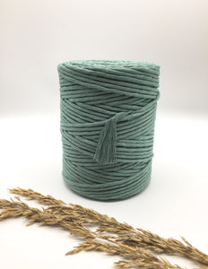 Oil blue 4mm Recycled cotton spool | Macrame & weaving supplies