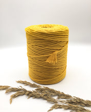 Load image into Gallery viewer, Dandelion yellow | 4mm Recycled cotton spool | Macrame & weaving supplies