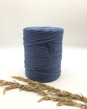 Load image into Gallery viewer, Navy marine blue 4mm Recycled cotton spool | Macrame & weaving supplies
