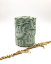 Load image into Gallery viewer, Light sage green 4mm Recycled cotton spool | Macrame & weaving supplies