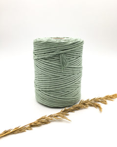 Light sage green 4mm Recycled cotton spool | Macrame & weaving supplies