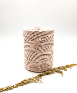 Ballet pink 4mm Recycled cotton spool | Macrame & weaving supplies