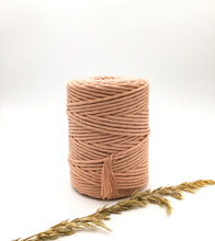 Load image into Gallery viewer, Antique Dusty pink | 4mm Recycled cotton spool | Macrame & weaving supplies