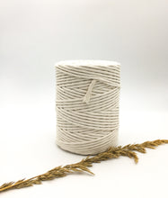 Load image into Gallery viewer, Natural 4mm Recycled cotton spool | Macrame & weaving supplies