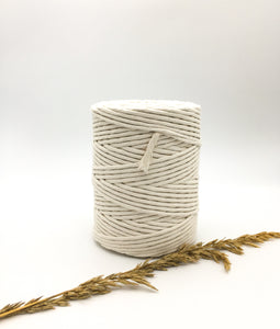 Natural 4mm Recycled cotton spool | Macrame & weaving supplies