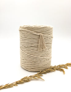 Beach 4mm Recycled cotton spool | Macrame & weaving supplies