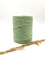 Load image into Gallery viewer, Light green shamrock 4mm Recycled cotton spool | Macrame & weaving supplies