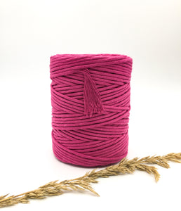 Lipstick vibrant pink 4mm Recycled cotton spool | Macrame & weaving supplies