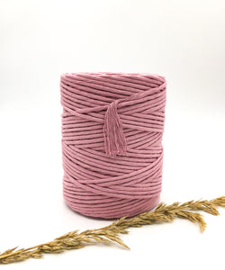 Pink  cotton candy 4mm Recycled cotton spool | Macrame & weaving supplies