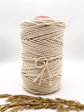 Load image into Gallery viewer, 4 mm NATURAL 3-ply cotton rope
