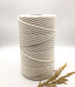 8mm NATURAL RECYCLED single twist string