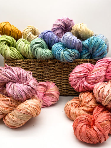 Recycled SARI SILK ribbons