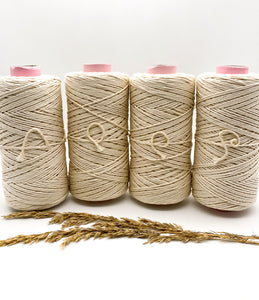 2mm NATURAL single twist cotton string