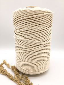 3mm NATURAL single twist cotton string
