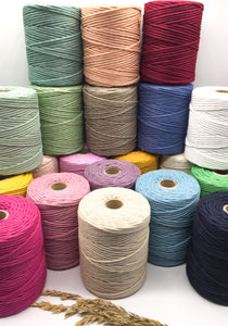 4mm Recycled cotton spool | Macrame & weaving fibre supplies for sale uk