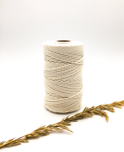 2.5mm NATURAL twisted rope