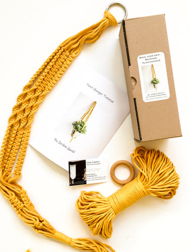 Make your own macrame plant hanger kit