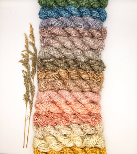 Vegan banana fibre yarn rainbow