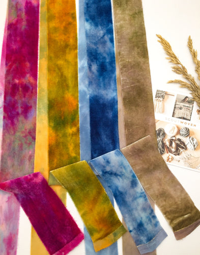 SCOUTWOVEN collection ~ Hand dyed SILK VELVET