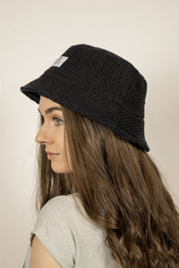 Breeze Bucket Hat - Black Waffle
