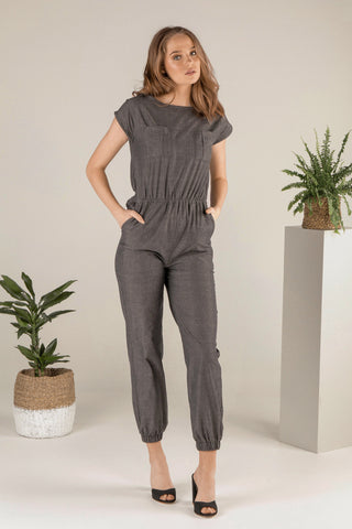 Mindful Warrior Jumpsuit - Charcoal