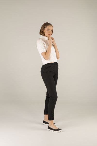 Soft Wind Trousers - Black