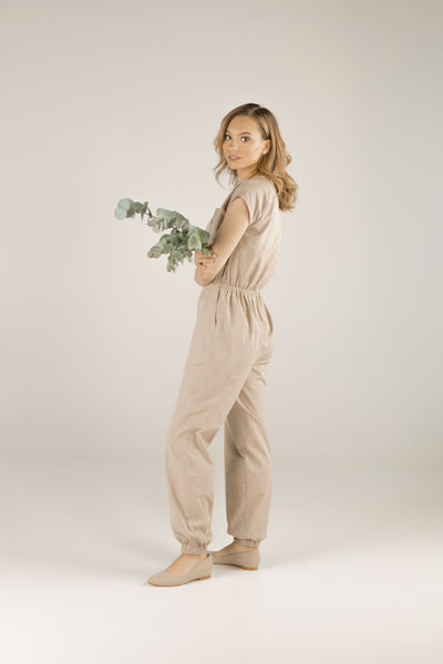 Mindful Warrior Jumpsuit - Hazelnut