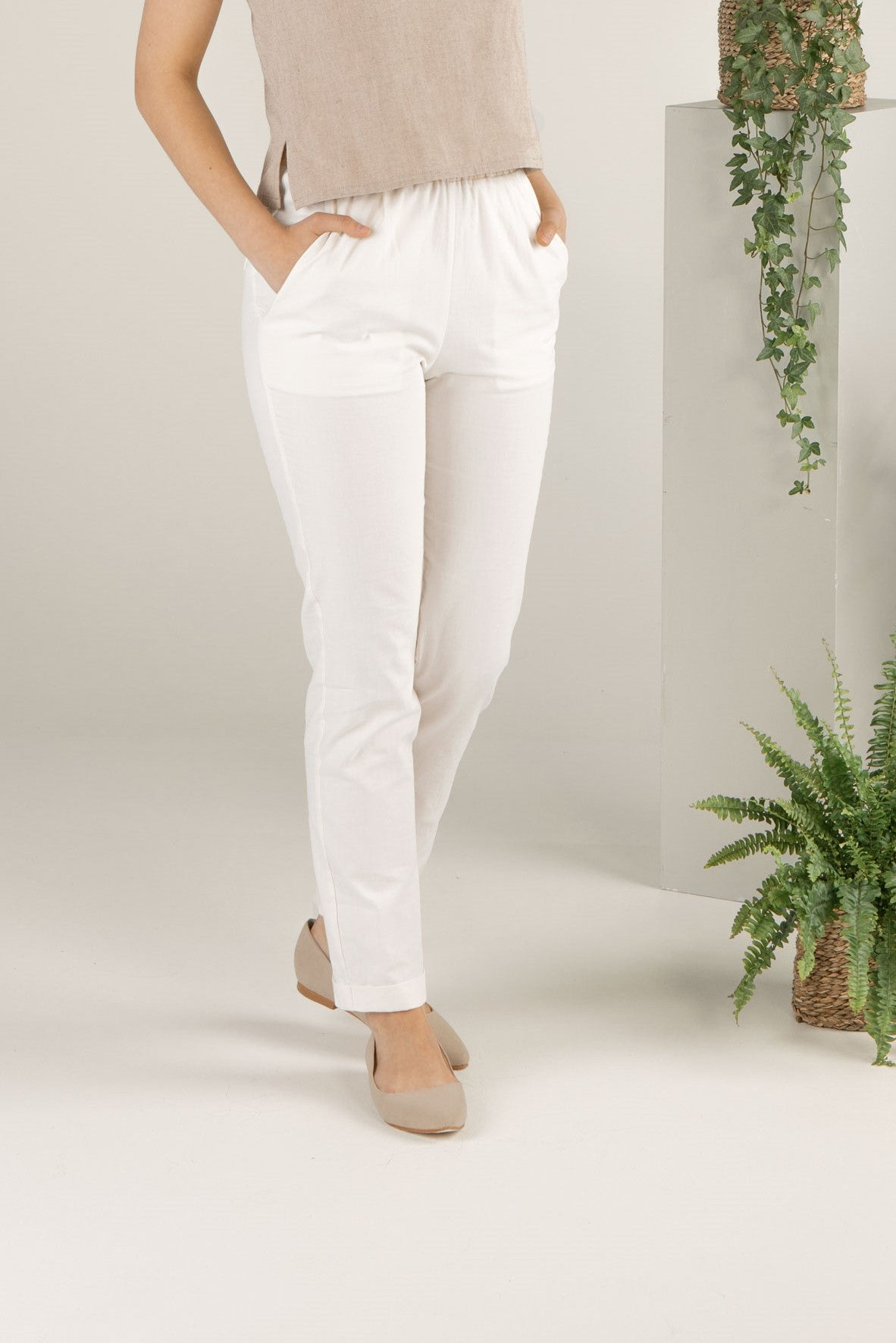 Soft Wind Trousers - Ivory