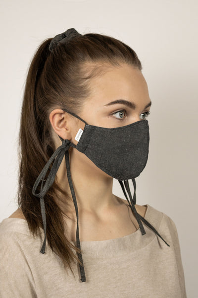 Organic Cotton Face Mask - Charcoal