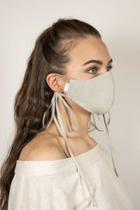 Organic Cotton Face Mask - Light Sage