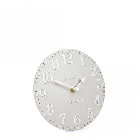 "cadeauxwells - 6"" Arabic Mantel Clock Dove Grey - Art Marketing - Homewares"