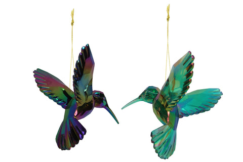 Acrylic Peacock Hummingbird Decoration