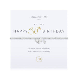 cadeauxwells - A Little Happy 30th Birthday Bracelet - Joma Jewellery - Jewellery