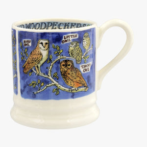 cadeauxwells - Owls and Woodpeckers 1/2 Pint Mug - Emma Bridgewater - Crockery