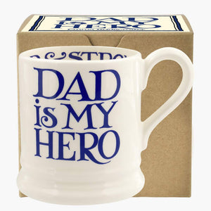 cadeauxwells - Blue Toast Dad is my Hero 1/2 Pt Mug Boxed - Emma Bridgewater - Crockery