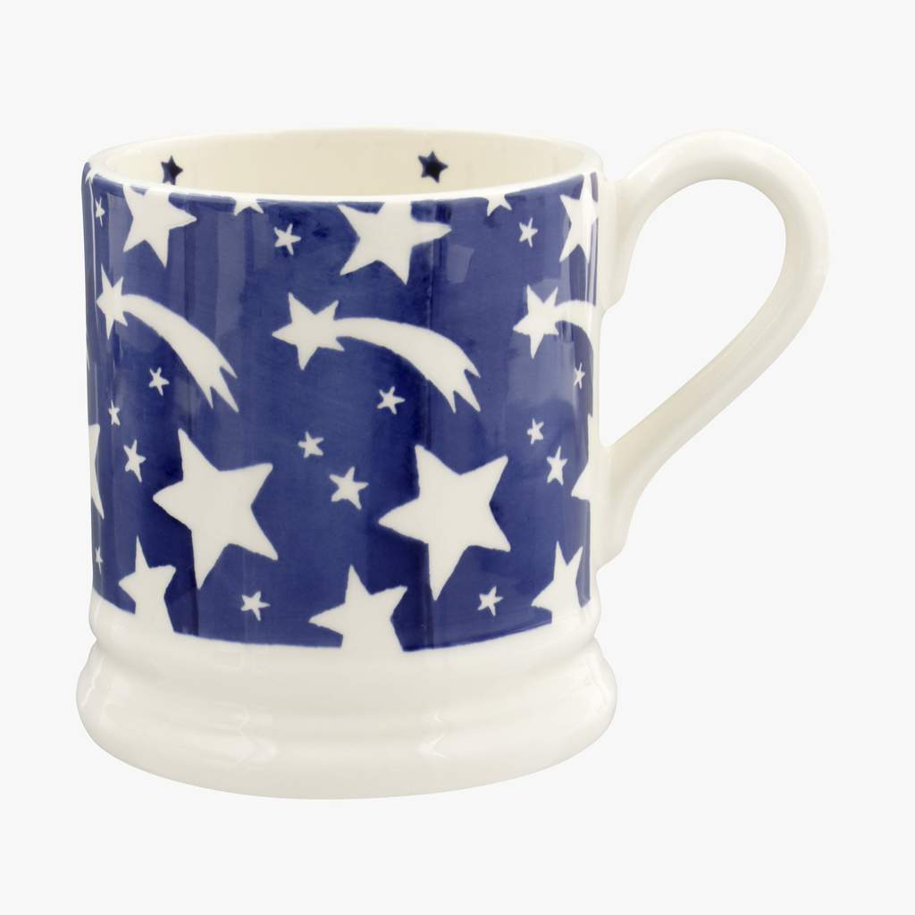 cadeauxwells - Blue Shooting Star 1/2 Pint Mug - Emma Bridgewater - Crockery