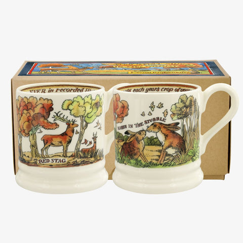 cadeauxwells - In The Woods Set of 2 1/2 Pint Mugs Boxed - Emma Bridgewater - Crockery