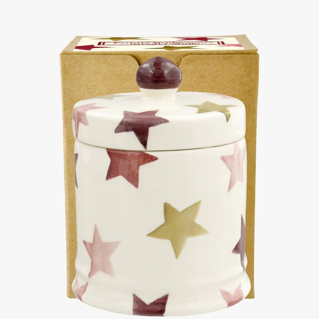 cadeauxwells - Pink & Gold Stars Small Lidded Candle Boxed - Emma Bridgewater - Crockery